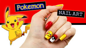 Pokemon (Pikachu & Pokeball) Nail Art Tutorial - YouTube