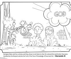 Coloring Pages For Kids Adam And Eve With The Wordless Color Story