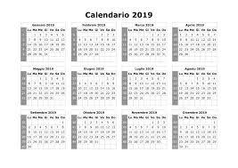 Calendario 2019 Mensile Pdf Calendarios Hd
