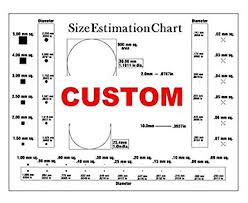 Custom Size Estimation Chart Transparency For Defects And