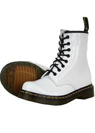 dr marten womens white patent leather boot size white combat boots save 40 70