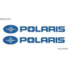 polaris logo. polaris logo sticker / decal for atvs, cars and bikes (pair of 2 stickers o