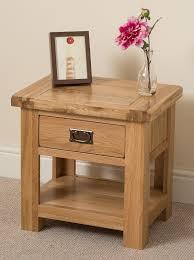 cottage light solid oak lamp table 1 drawer