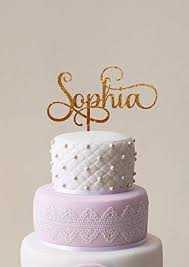 Name Cake Topper Personalized Birthday Cake Topper Custom Name Cake Topper Gold Glitter Name Cake Topper First Birthday