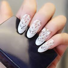 White Rose Nail Design Nails Supplies 1pc 120 4cm White Lace Rose Design Nail Foil Manicure Decal Beauty Sexy Floral Paper Tips Bride Decoration