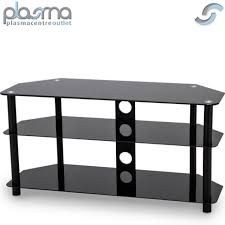 black gloss glass tv stand unit cabinet with cable management 50 led curve lcd
