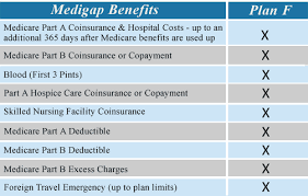 Medicare Supplement Plan Chart Medigap Plan F The Most Common And Comprehensive Plan