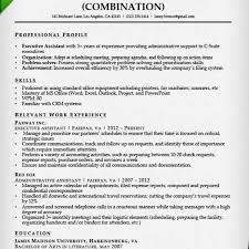 Combination Resume Samples Writing Guide Rg Pertaining To