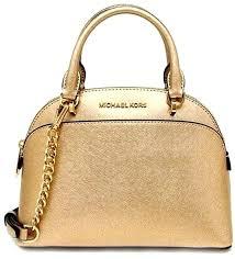 large dome satchel pale gold bag leather michael kors mercer grey i