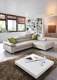 Wohnlandschaft In Textil Grün Weiß Wohnzimmer Wohnen