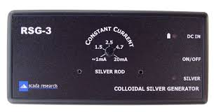 top view of the rsg 3 colloidal silver generator