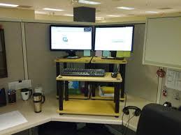 diy standing desk cubicle. Beautiful Diy My Standing Desk V11 And Diy Desk Cubicle E