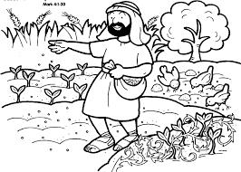 De Zaaier Bc Lente Bijbel Kleurplaten Bijbel Knutselen En