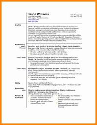 3 Good Resume Format Autobiography Format