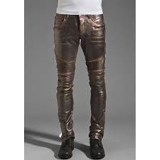 Pants In Rogue Leather Pants In Dark Brown For Men