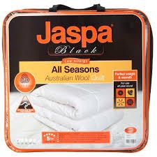 Jaspa Black All Season Wool Quilt & Jaspa Black All Season Wool Quilt White Adamdwight.com