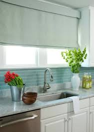 blue glass tile backsplash cottage kitchen liz carroll interiors throughout glass tile kitchen backsplash