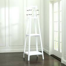 Free Standing Coat Rack With Shelf Standing Coat Rack White Coat Rack White Wood Standing Coat Rack 23