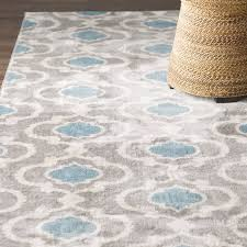 impressive andover mills melrose greyblue area rug reviews wayfairca pertaining to area rug blue modern