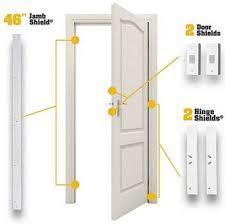 best door jamb security plate hinge