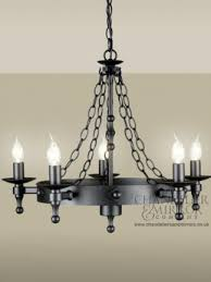riley graphite 5 light hand crafted chandelier