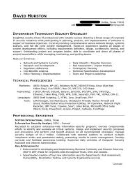 Information Technology Resume Cover Letter Examples Information