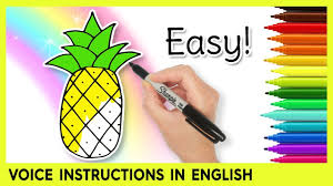 How To Draw A Pineapple Drawing Lessons For Kids