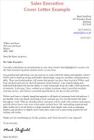 Executive Cover Letter Examples Covering Letter Sales Sales Executive Cover Letter Example Cv