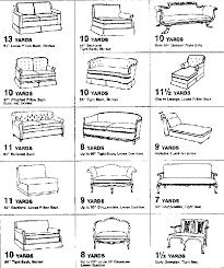 65 Proper Furniture Yardage Chart