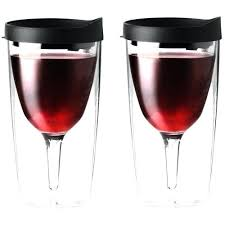 wine glass sippy cup wine black acrylic glass insulated lid goblet 2 set cup picnic mommys wine glass sippy