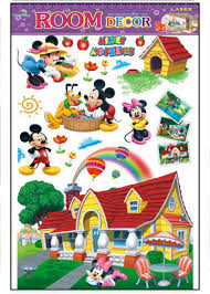 mickey mouse clubhouse wall sticker note when you receive the sticker it is rolled up in the however it is easier to work with when the sticker