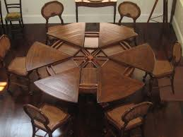 Custom Extendable Round Tables Expandable Dining Table Home And Room  Decoration