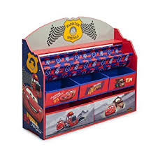 Disney Cars Fan Stand Display Case Amazon Delta Children Deluxe Book Toy Organizer Disney 66