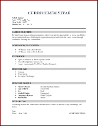 How To Write A Resume For Job Cv Regarding With Only One 23