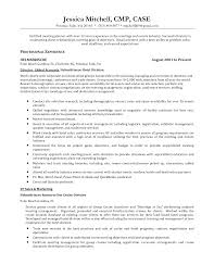 Meeting Planner Resume Sample Sevte