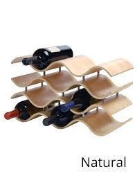 modern wood countertop wine rack
