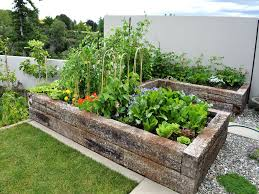 Small Picture Simple Modern Kitchen Garden Design With How To Build A Raised In