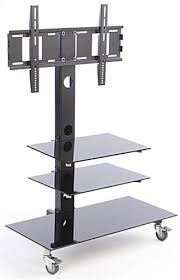 tv stand with casters. TV Stand With Mount For 65 Inch TVs And Cable Management Tv Casters E