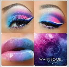 crazy lipstick art make up crazy color of eyeshadow and lipstick