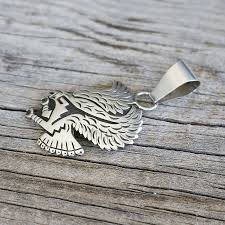 hopi sterling silver eagle pendant native american the crow and the cactus
