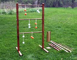 Wooden Lawn Games Ladder Ball Game Set with Tote Wooden Ladderball Game ladder 65