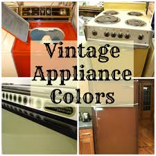 50s Style Kitchen Appliances Vintage Appliance Colors Throwbackthursday Goedekers Home Life