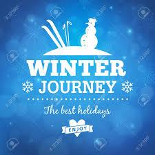 冬の旅ポスター背景ベクトル デザイン背景から分離されましたの