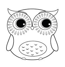 Owls Coloring Pages Cartoon Owl Coloring Pages Cute Owl Coloring