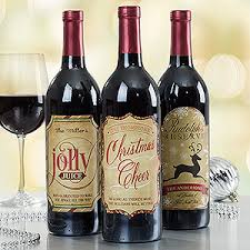 wine bottle stickers personalized merry christmas wine bottle labels
