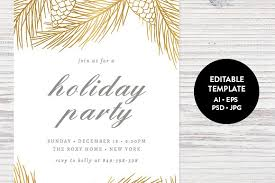Holiday Party Invitation Trend Christmas Party Invitation Template