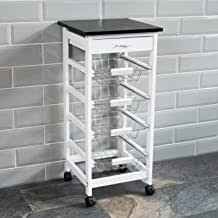 Wood - Storage Trolleys / Kitchen Furniture: Home ... - Amazon.co.uk