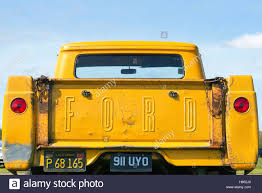 1957 Ford pick up truck tailgate Stock Photo: 124162584 - Alamy