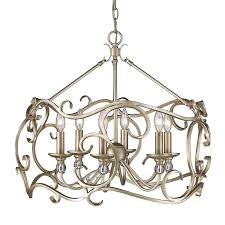 ulysse 6 light candle style chandelier