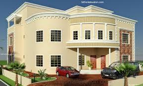 3D Front Elevation Com Dubai Arabian HOuse 3D Front Elevation Design